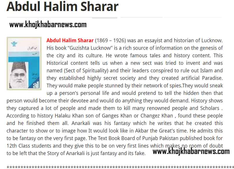 Abdul Halim Sharar