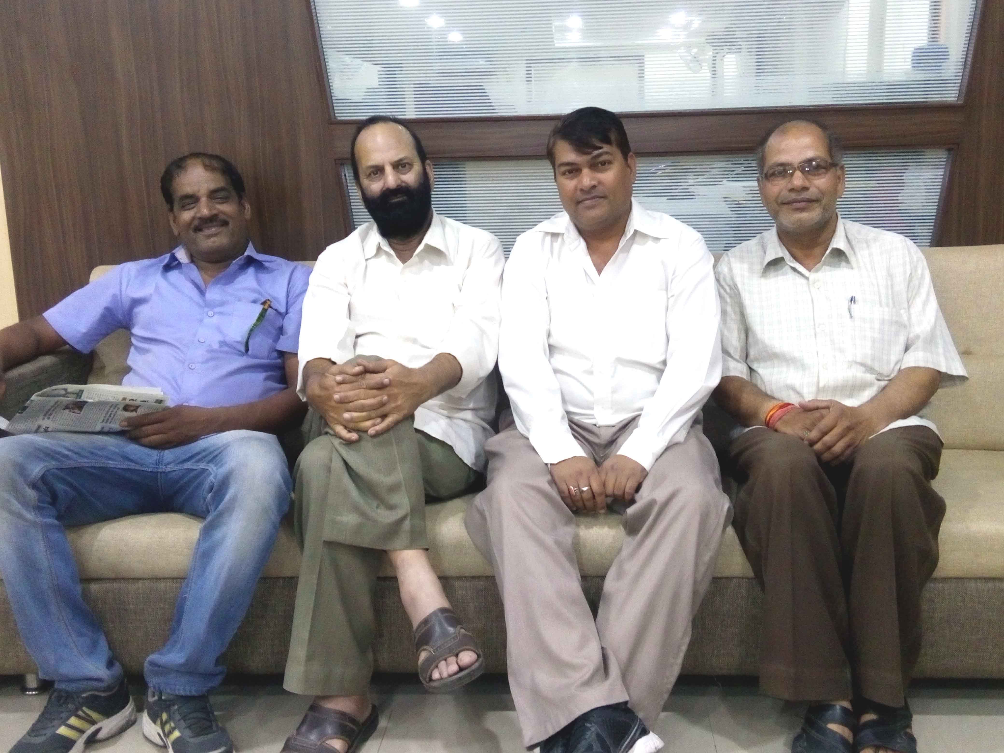 Senior Journalist Mr Raghvir Tiwari, Muslim Saleem, Assistant Director Public Relations Mr Durgesh Raikwar and noted theathre person Mr Sushil Soni